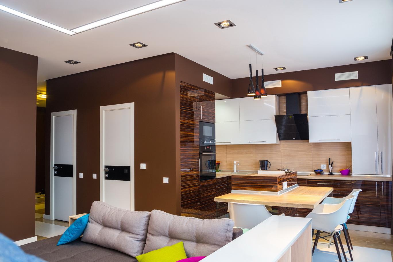 Кухня студия на 17 кв м дизайн